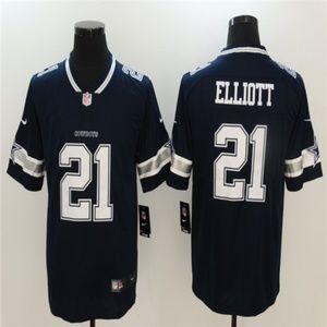 Cowboys 21 Ezekiel Elliott Jersey black